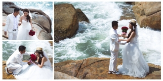 Album cưới biển